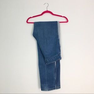 VTG High Rise Striped Mom Jeans Medium Wash 30
